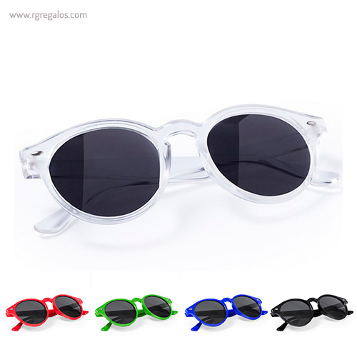 Gafas de sol diseño circular montura transparente - RG regalos publicitarios