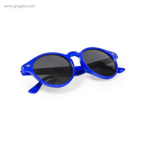 Gafas de sol diseño circular montura transparente azules - RG regalos publicitarios