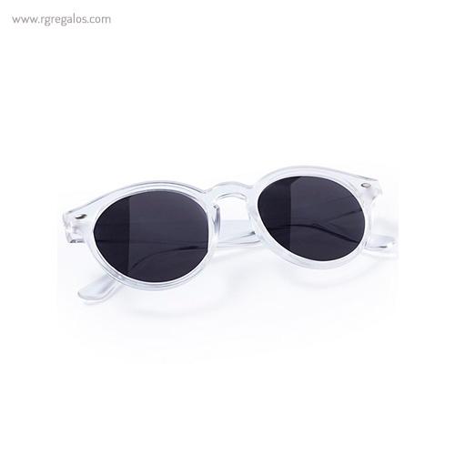 Gafas de sol diseño circular montura transparente lentes espejadas - RG regalos publicitarios