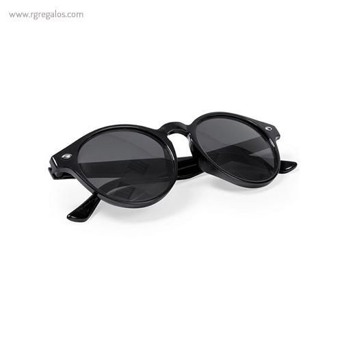 Gafas de sol diseño circular montura transparente negras - RG regalos publicitarios