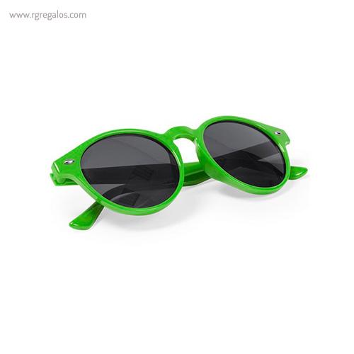 Gafas de sol diseño circular montura transparente verdes - RG regalos publicitarios