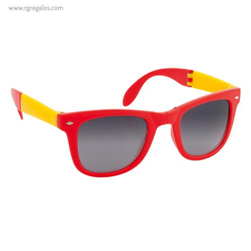 Gafas de sol plegables rojas y amarillas - RG regalos publicitarios