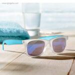 Gafas de sol lentes espejo gris detalle - RG regalos publicitarios