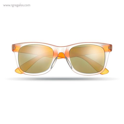 Gafas de sol lentes espejo naranja - RG regalos publicitarios