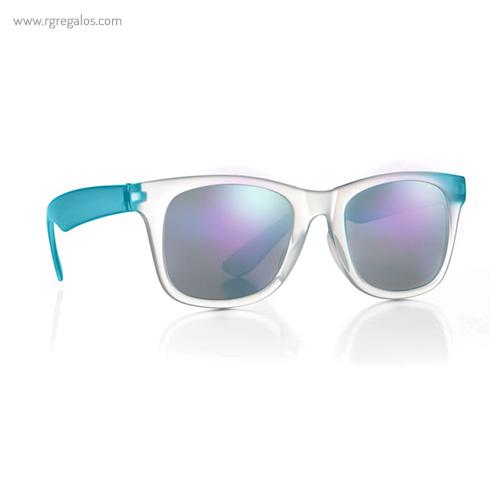 Gafas de sol lentes espejo turquesa 1 - RG regalos publicitarios