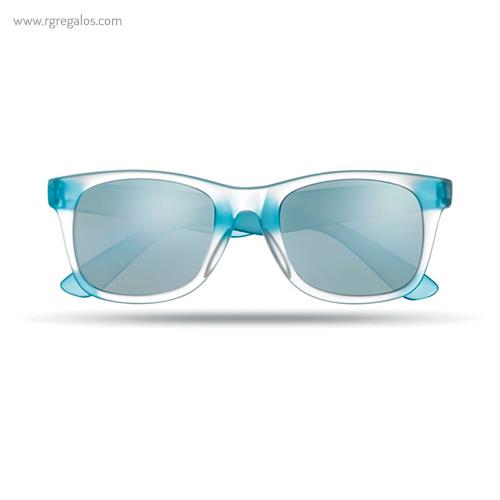 Gafas de sol lentes espejo turquesa - RG regalos publicitarios