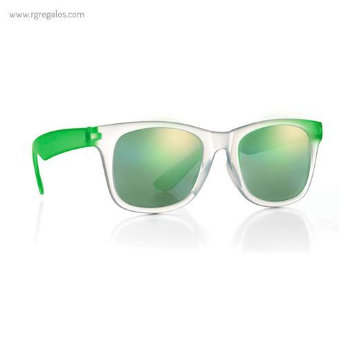 Gafas sol lentes de espejo verde 1 - RG regalos publicitarios