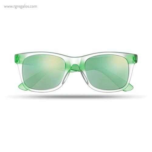Gafas de sol lentes espejo verde - RG regalos publicitarios
