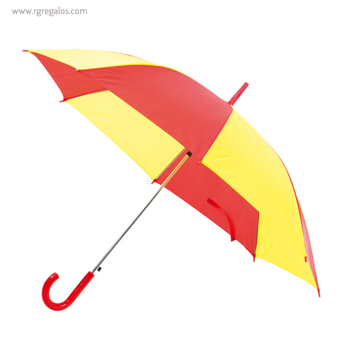 Paraguas publicitario amarillo y rojo - RG regalos publicitarios