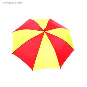 Paraguas amarillo y rojo detalle - RG regalos publicitarios