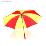 Paraguas amarillo y rojo interior - RG regalos publicitarios