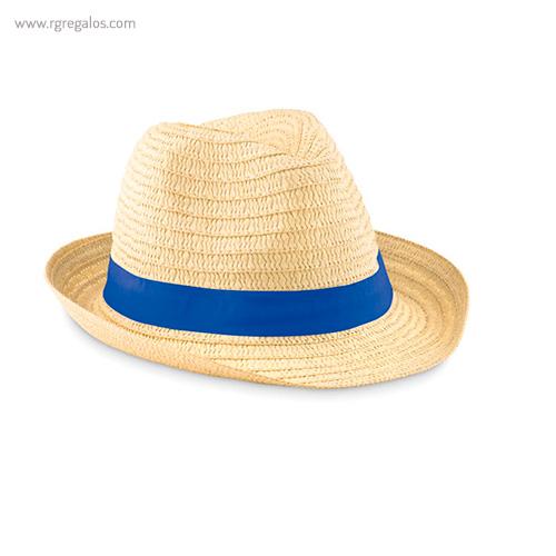 Sombrero de papel paja cinta azul 1 - RG regalos publicitarios
