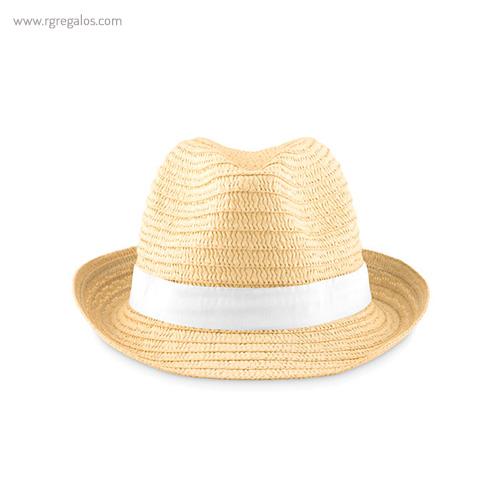 Sombrero de papel paja cinta blanca - RG regalos publicitarios