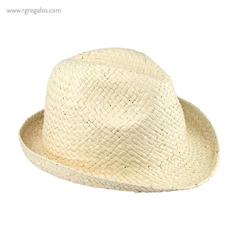 Sombrero de papel paja flexible blanco - RG regalos publicitarios