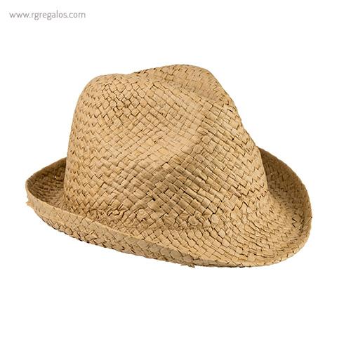 Sombrero de papel paja flexible camel - RG regalos publicitarios