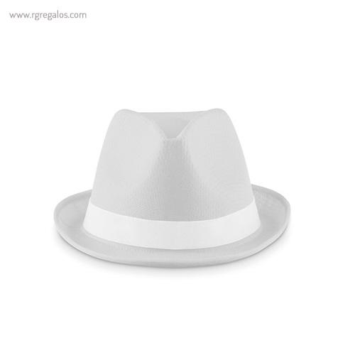 Sombrero de poliéster de colores blanco 1- RG regalos publicitarios