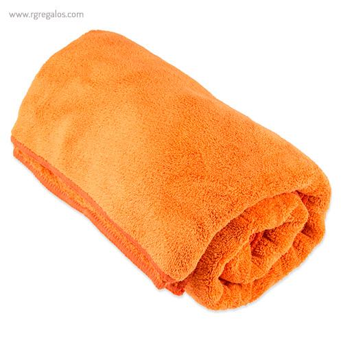 Toalla con bolsa en microfibra naranja - RG regalos publicitarios