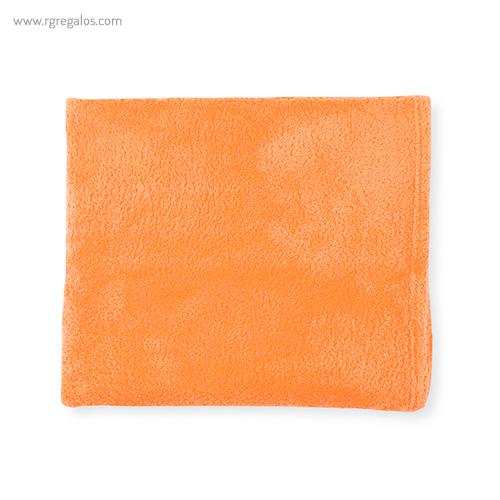 Toalla con bolsa en microfibra naranja plegada - RG regalos publicitarios