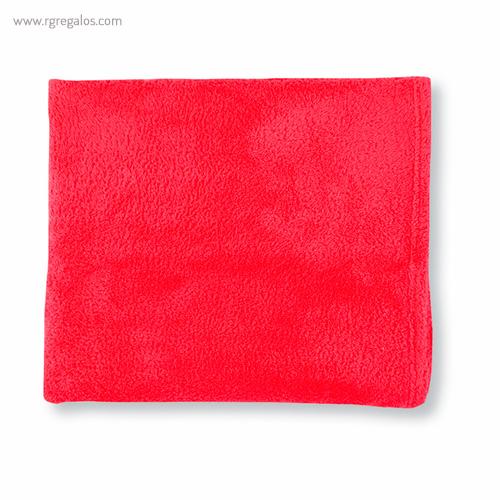 Toalla con bolsa en microfibra roja - RG regalos publicitarios