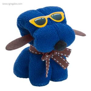 Toalla en forma de perro azul - RG regalos publicitarios