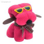 Toalla en forma de perro fucsia - RG regalos publicitarios