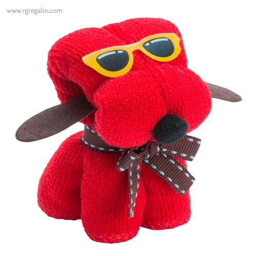 Toalla en forma de perro roja - RG regalos publicitarios