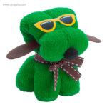 Toalla en forma de perro verde - RG regalos publicitarios