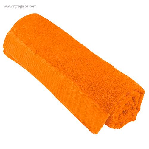 Toalla publicitaria en vivos colores naranja - RG regalos publicitarios
