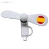 Ventilador bandera países smartphone España - RG regalos publicitarios