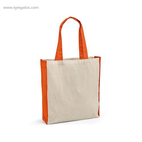 Bolsa compra algodón naranja - RG regalos