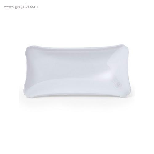 Almohadilla inflable transparente blanca - RG regalos publicitarios
