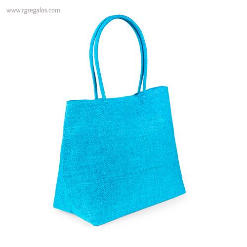 Bolsa de playa de fibra sintética azul - RG regalos publicitarios