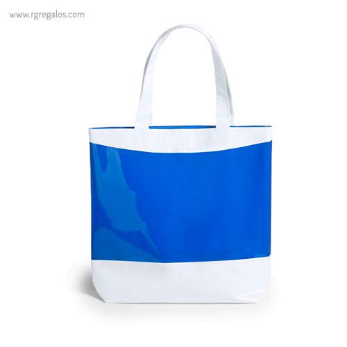Bolsa de playa en PVC azul - RG regalos publicitarios