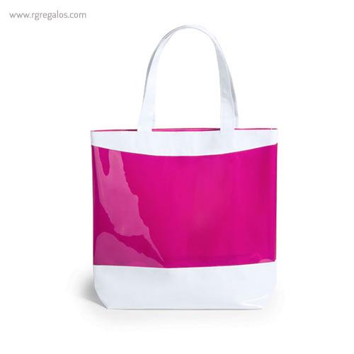 Bolsa de playa en PVC fucsia - RG regalos publicitarios