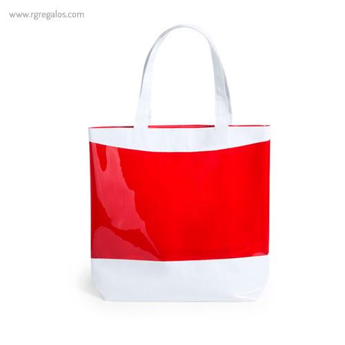 Bolsa de playa en PVC roja - RG regalos publicitarios
