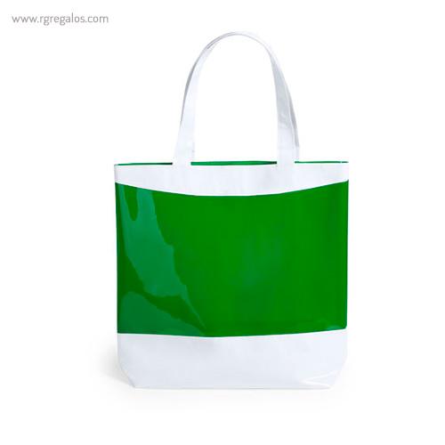 Bolsa de playa en PVC verde - RG regalos publicitarios