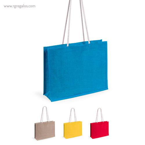 Bolsa de playa en yute colores - RG regalos publicitarios