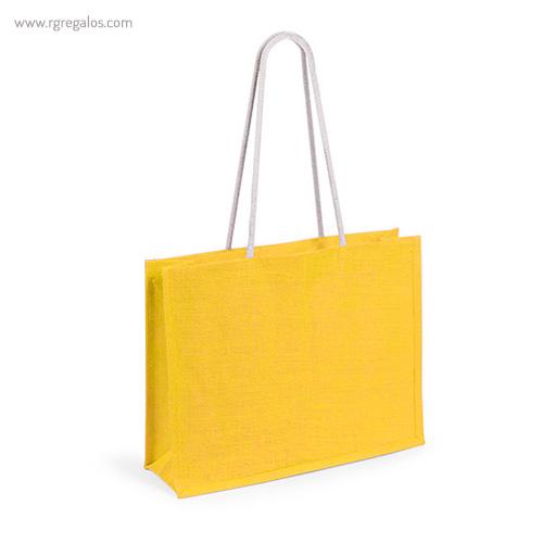 Bolsa de playa en yute colores amarilla - RG regalos publicitarios