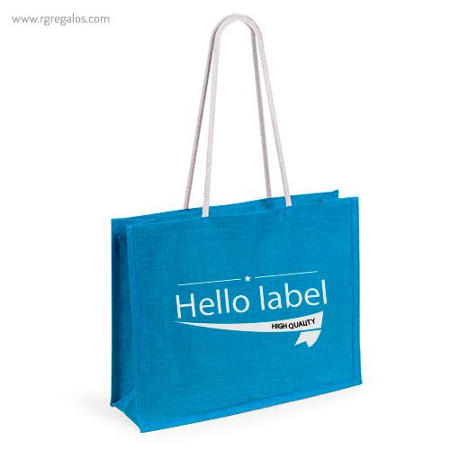 Bolsa de playa en yute colores con logo - RG regalos publicitarios