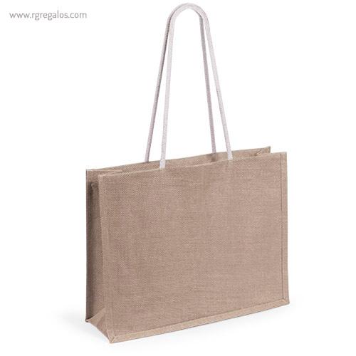 Bolsa de playa en yute colores natrual - RG regalos publicitarios