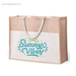 Bolsa de playa yute con bolsillo - RG regalos de empresa