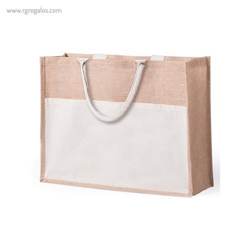 Bolsa de playa yute con bolsillo - RG regalos publicitarios