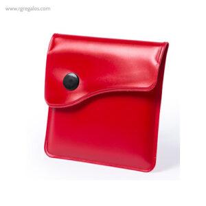 Cenicero de bolsillo para playa rojo - RG regalos publicitarios