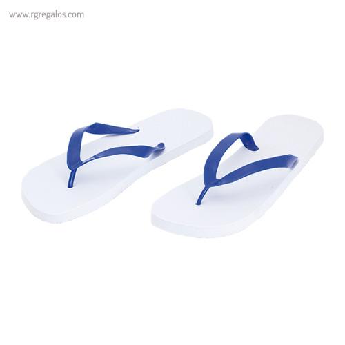 Chancla con suela blanca tira azul - RG regalos publicitarios