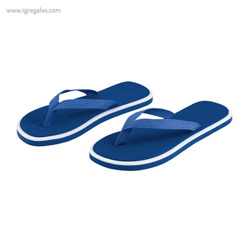 Chancla publicitaria bicolor azul - RG regalos publicitarios