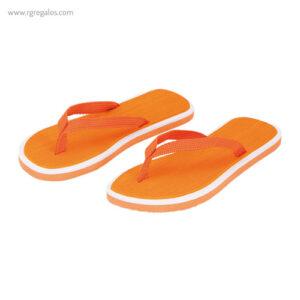 Chancla publicitaria bicolor naranja - RG regalos publicitarios