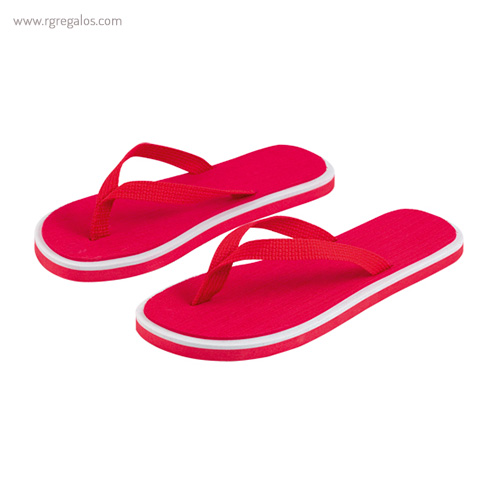 Chancla publicitaria bicolor roja - RG regalos publicitarios