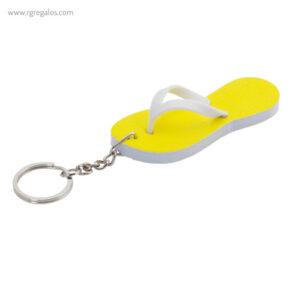Llavero chancla en EVA amarillo - RG regalos publicitarios