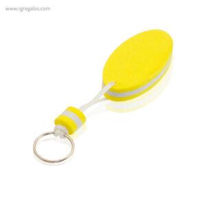 Llavero flotante bicolor en EVA amarillo - RG regalos publicitarios