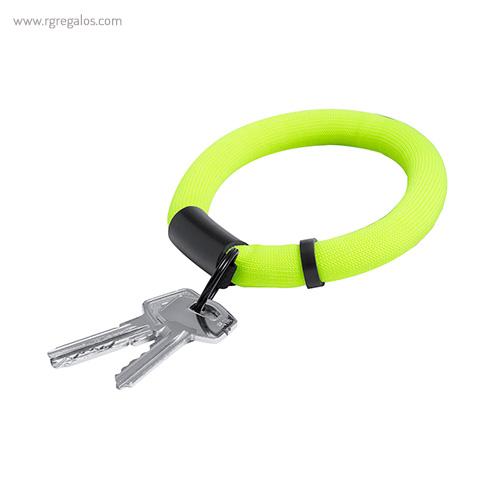 Llavero pulsera flotante verde - RG regalos publicitarios